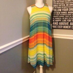 Beautiful Multi Color CK Calvin Klein Dress Size 6
